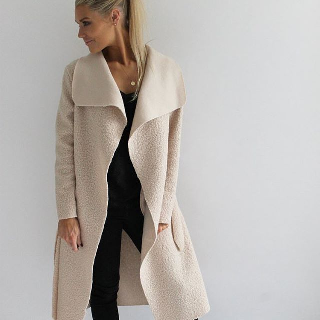 NEW and now online... Shearling Midi Coat... available in 3 colours!