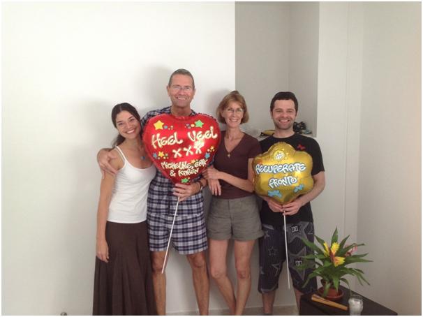 Armand met echtgenote Micheline en kinderen (uit een eerder huwelijk) Erik en Karen