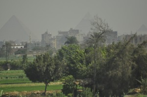 Even from a distance and with an obscured view, the Pyramids were impressive