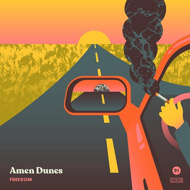 "10x18 Number 1: Amen Dunes - Freedom, Fav Track: ""Time"" - This record feels empty and expansive at the same time. Soulful, staggering, and vibrant, it embraces the spaces between destinations, the moments where we spend most of our lives. - Follow along all week and go check out the insanity by other artists at 10x18.co #10x18  @amendunes"