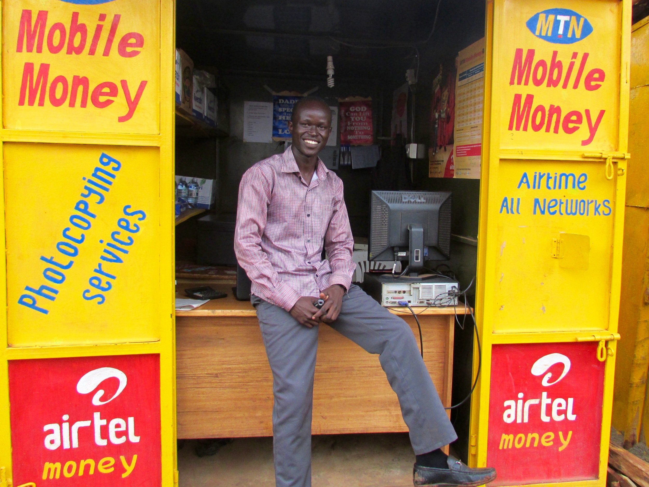 Stephen Ogawang in his shop