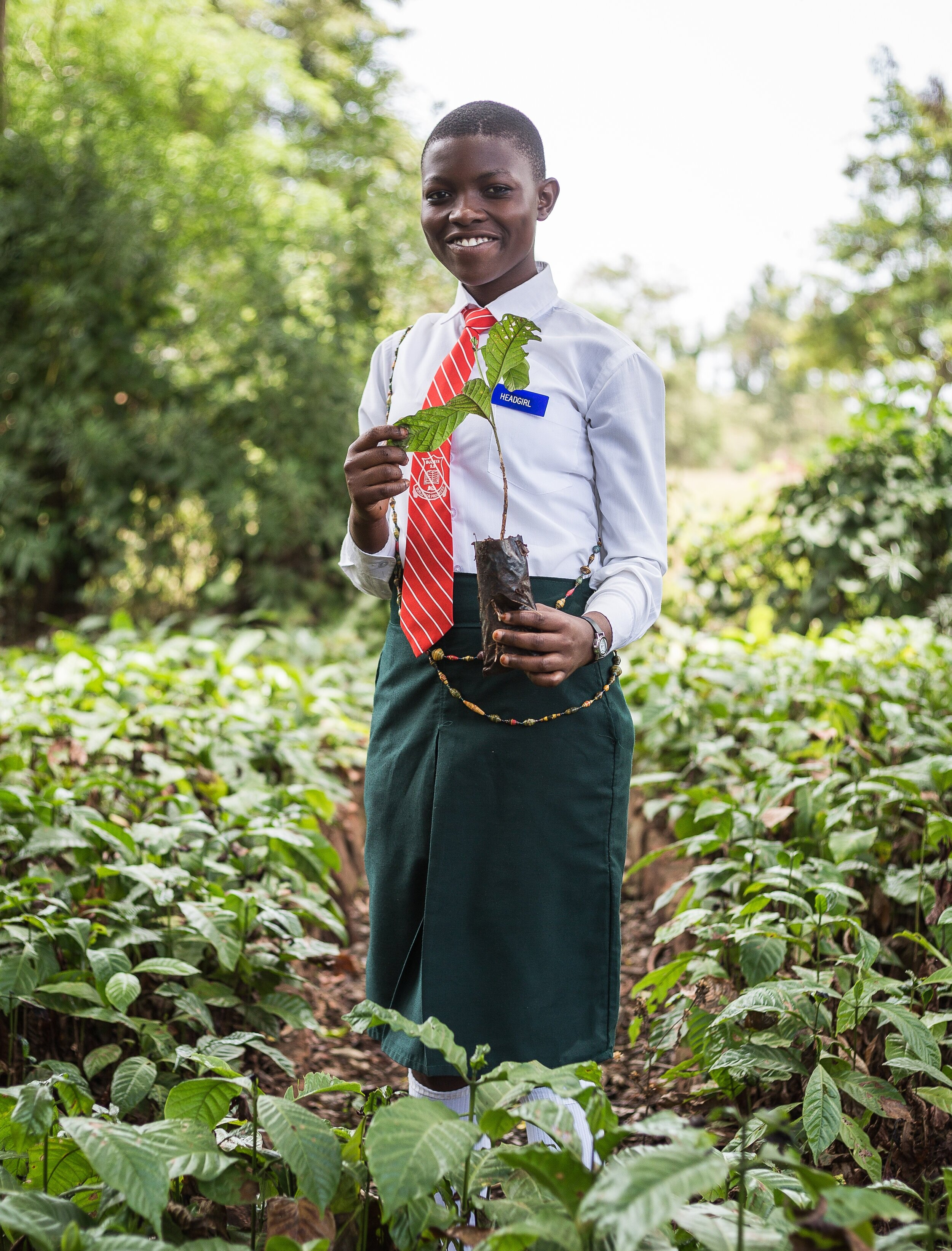 In high school, Barbara starts a small business and earns more than double the income of her peers. - Female Educate! participants earn 244% more income than their peers towards the end of secondary school, both genders earning 95% more than their peers not in the program.*
