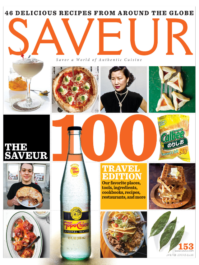 <p><a>SAVEUR MAGAZINE</a>DECEMBER, 2012</p>