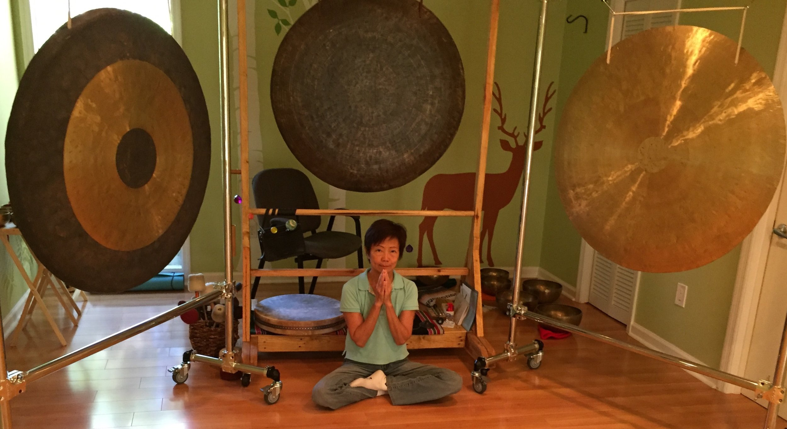 Expressing my gratitude the day after Hurricane Matthew. No damage to The Energy Center, my practice and gong studio.