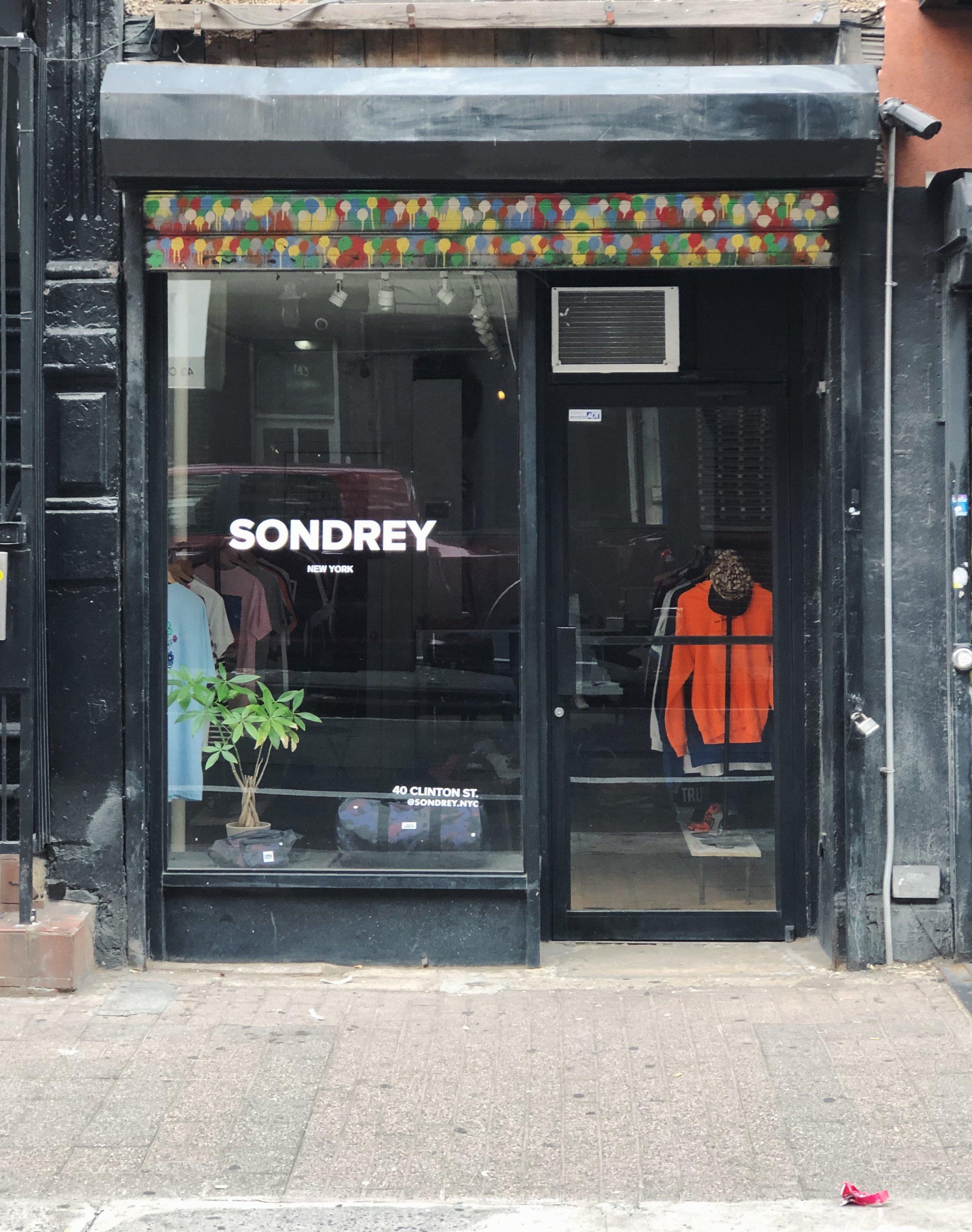 Sondrey NYC - 40 Clinton Street, New York City, NY, 10002Store Hours:Monday-Saturday 1230pm-8pmSunday 12:30pm-6:00pm
