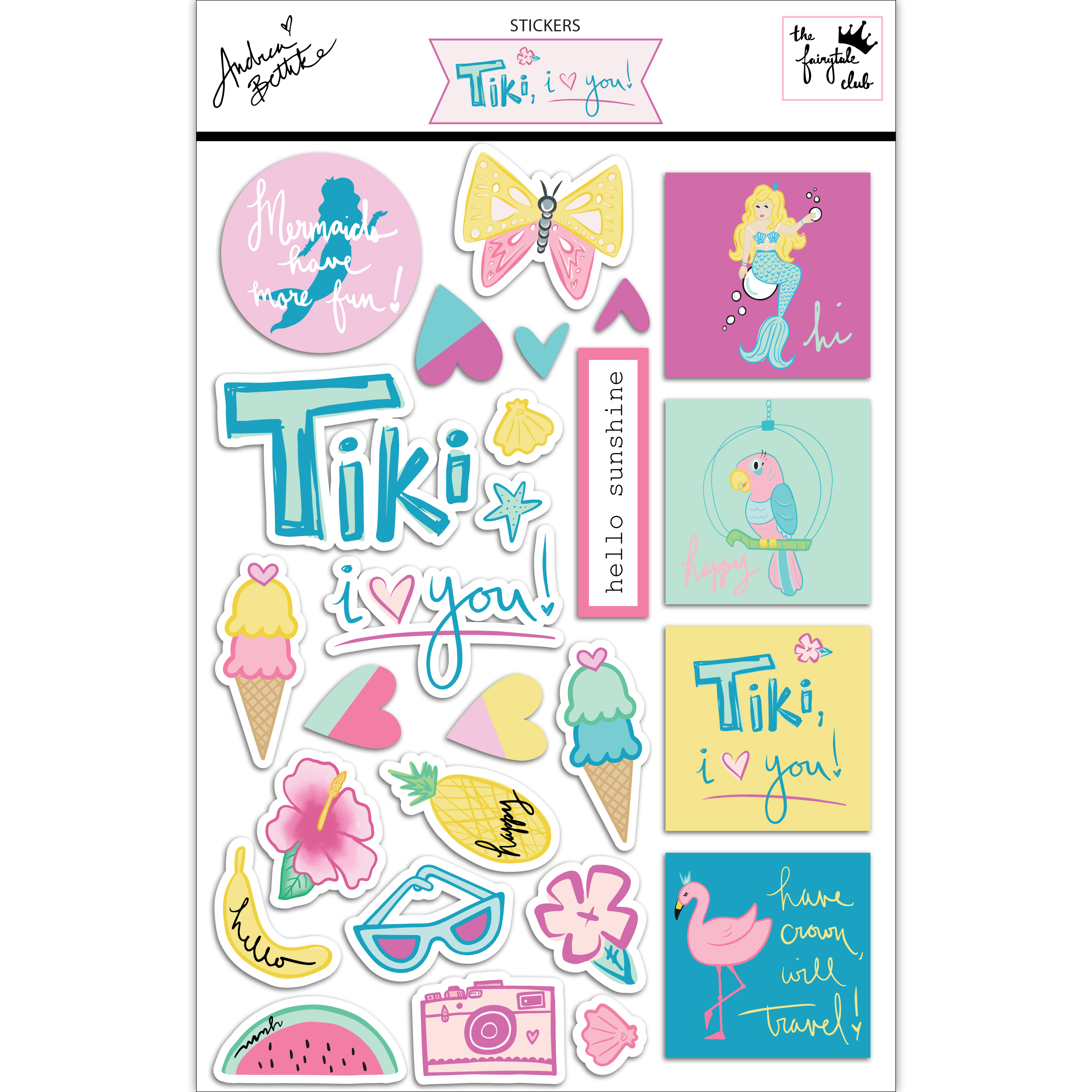 Tiki, I Love You - sticker sheet with packaging square.jpg