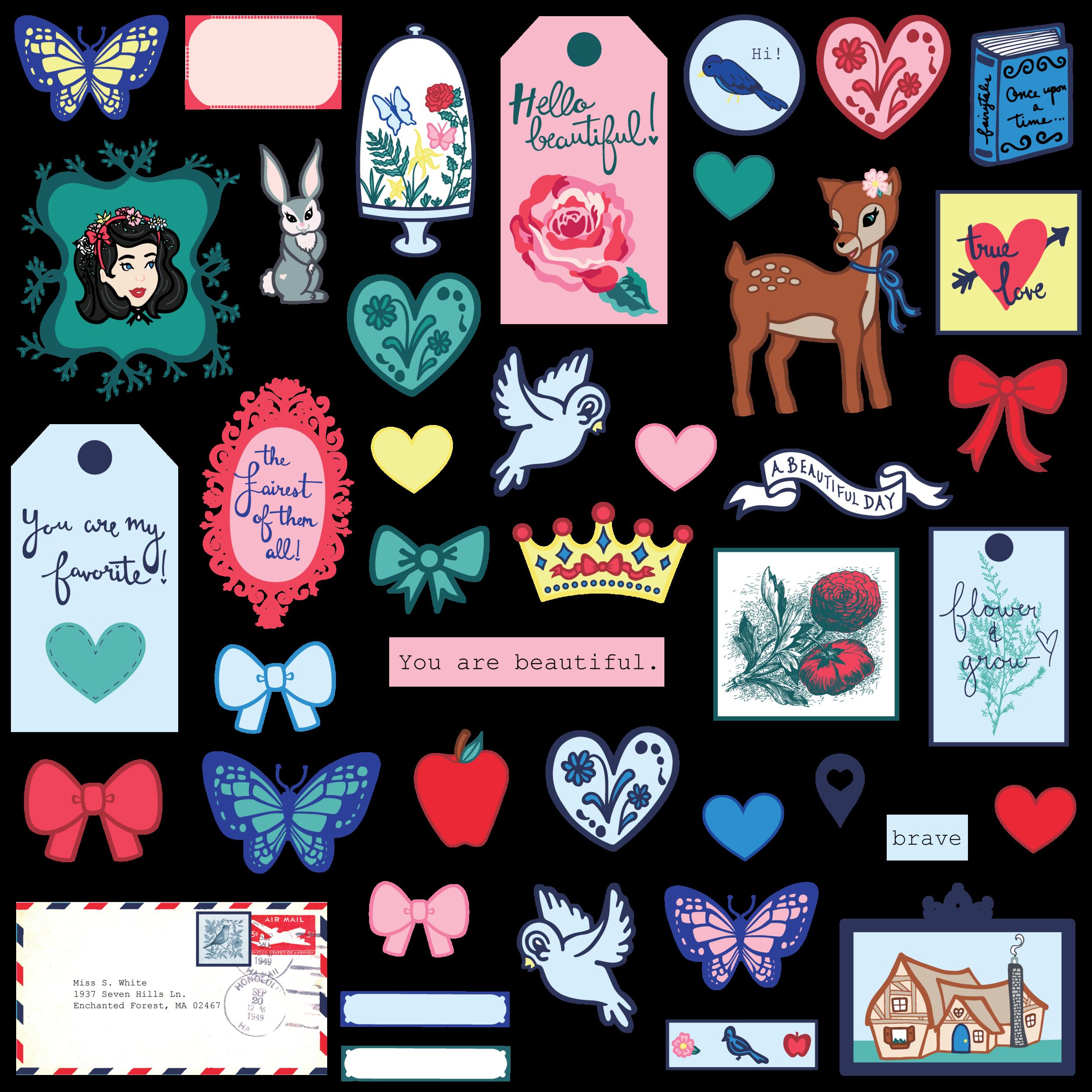 Hello Beautiful Digital Collection - Die Cut Shapes Ephemera.png