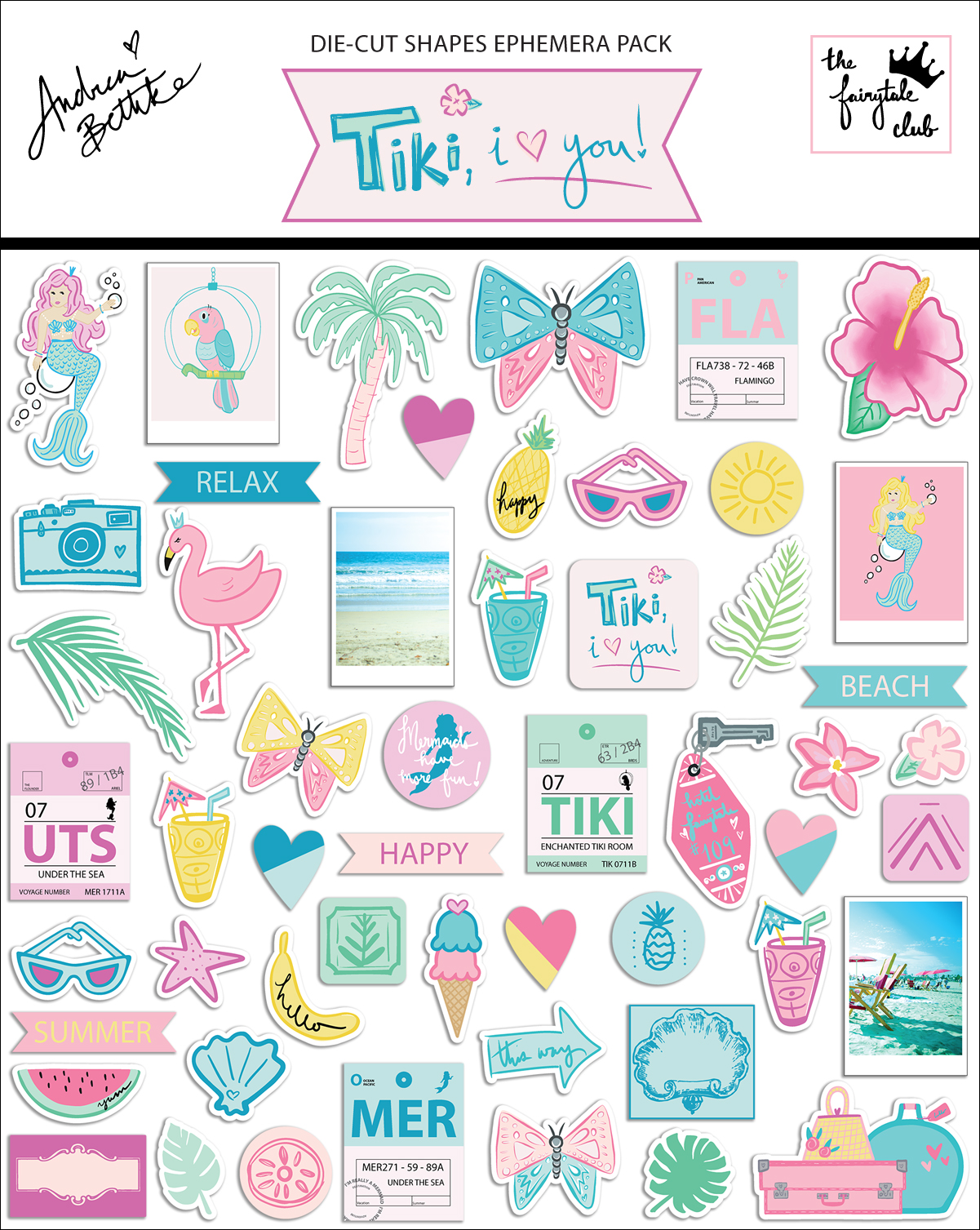Tiki, I Love You - Shapes Ephemera Pack with packaging.jpg