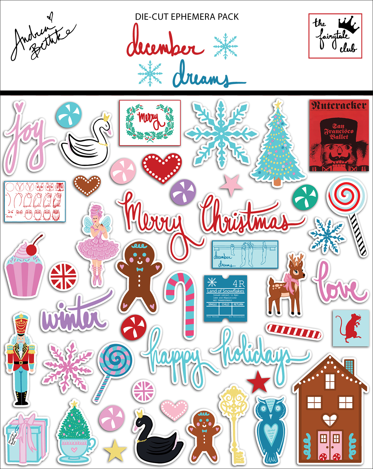December Dreams - Die Cut Ephemera Pack with Package.jpg