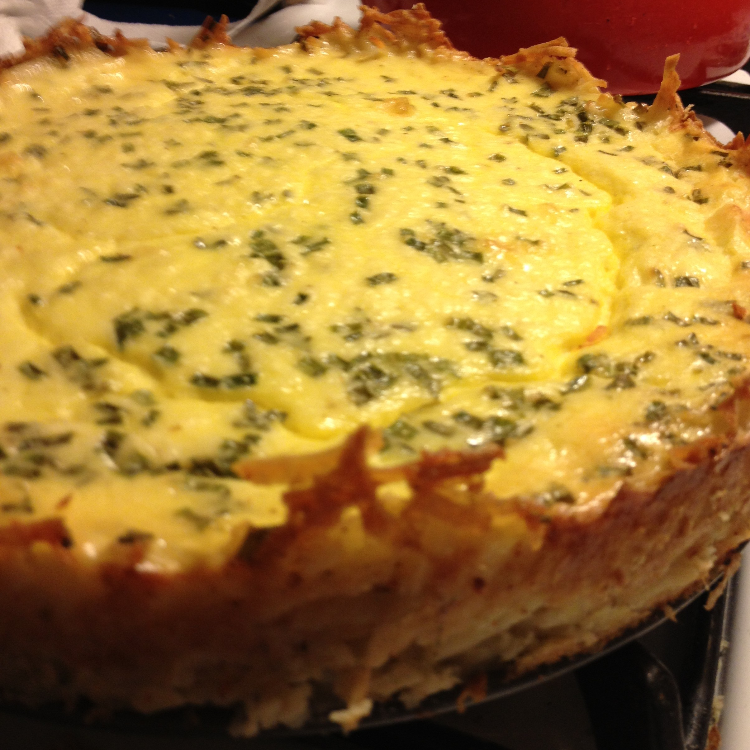 Savory Goat Cheesecake with Potato Crust