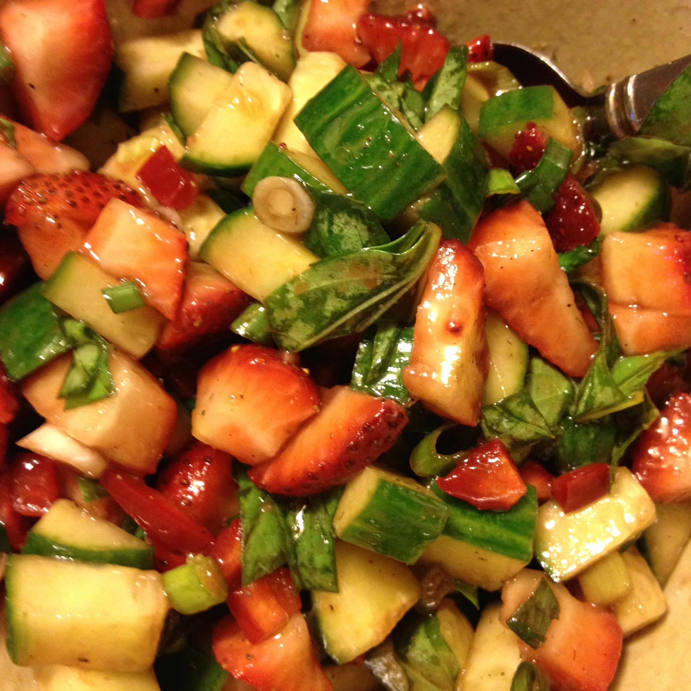 Strawberry Basil Salsa from JenniferJuniper.net