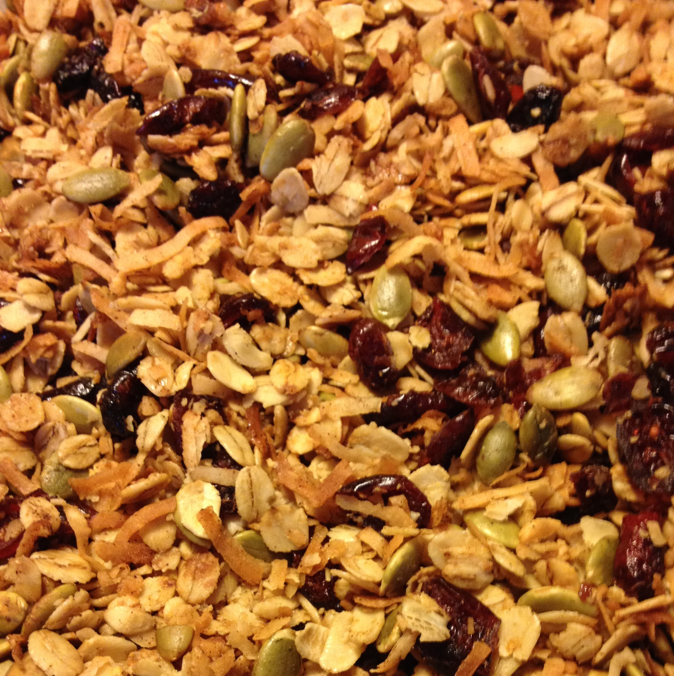 Pumpkin Spice Granola from JenniferJuniper.net  Gluten free, nut free, dairy free