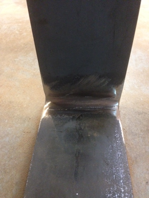 Grounded weld on raw flat bar steel