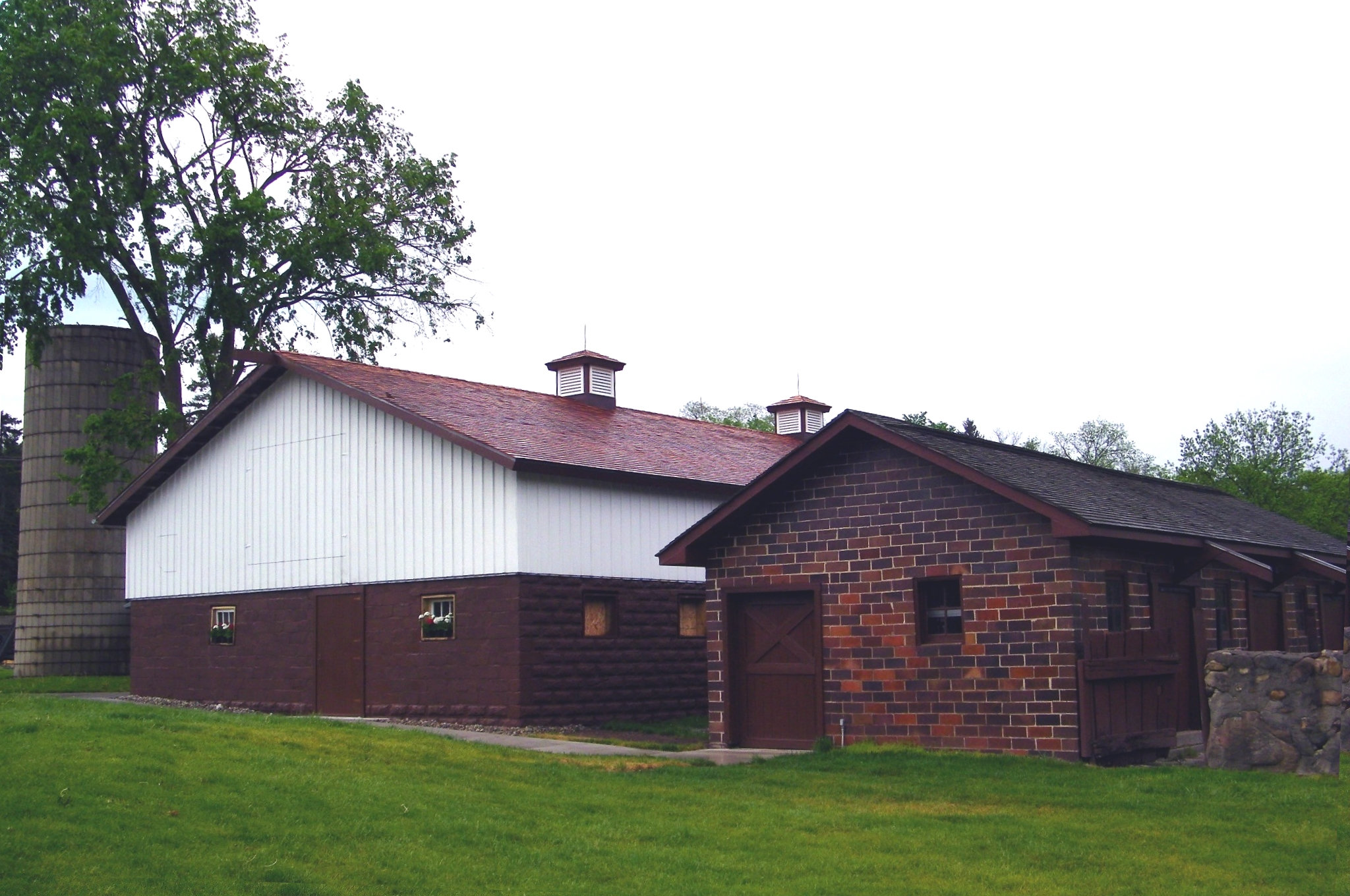 The Calf Barn restored, re-purposed and placed back in context in the Farm.