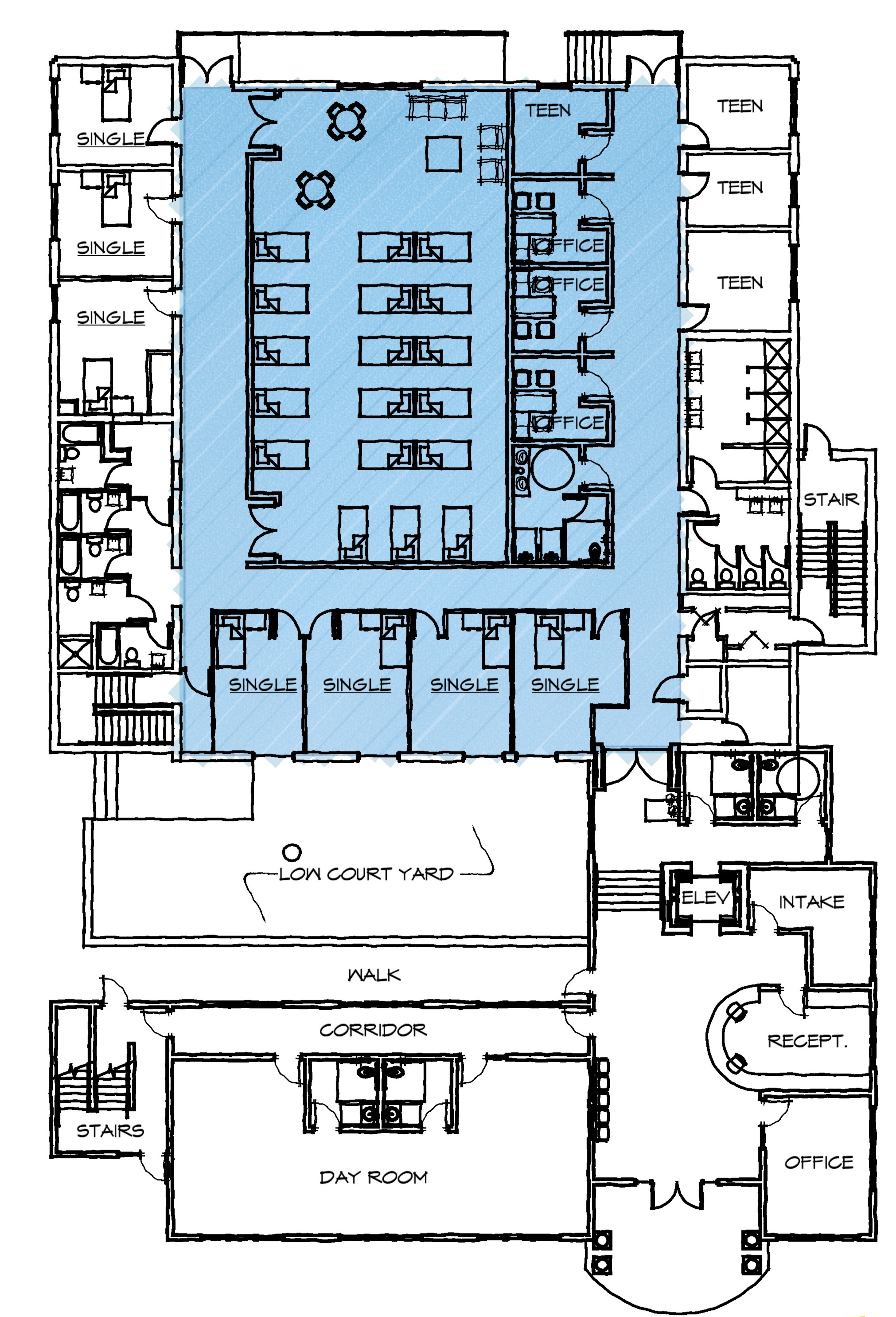 First Floor Plan of the proposed Family Center.