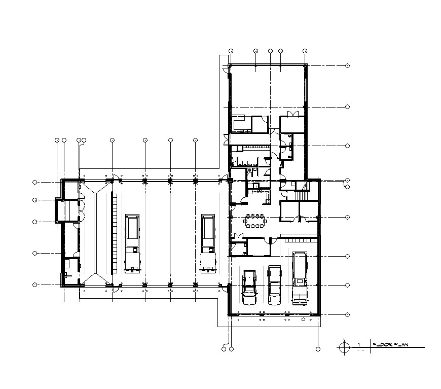 With a new 12,500 sf floor plan, 4 drive-through bays, three back-in bays, hose tower, squad rooms, and a training room, Imlay City FD will be ready for the challenges of the coming years.