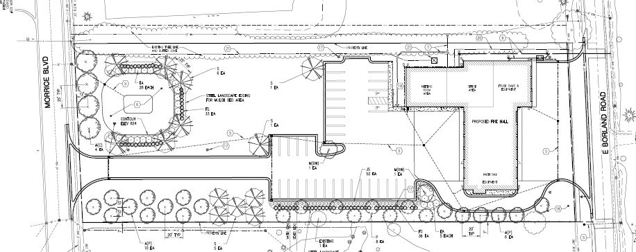 Site plan for the new Imlay City Fire Department station.