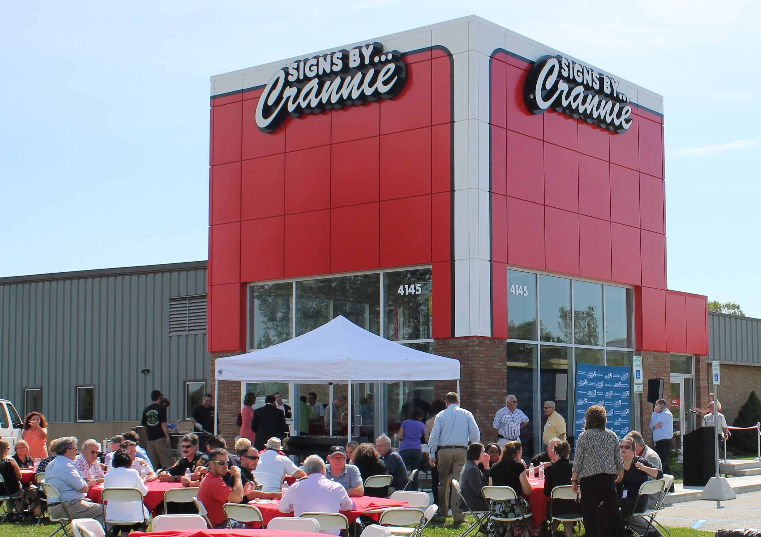 To help establish their corporate identity, H2A worked with Crannie to create a new entrance tower that also include space to show off Dan's vintage pickup truck.