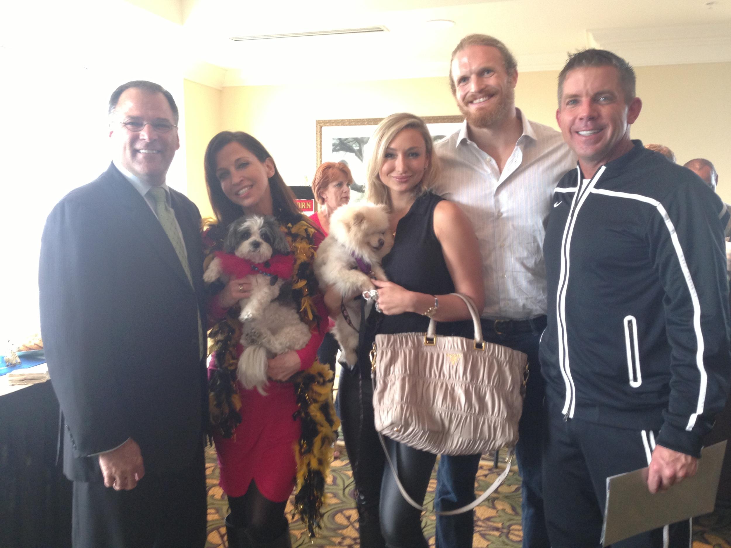 (From Left) Wendy Diamond, myself, Jeff Charleston, Coach Sean Payton of the New Orleans Saints