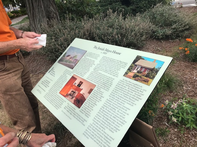 We've updated our info panel out front, drop by for information on the Foundation and the Mayo House. - Photo by Oonie Burley