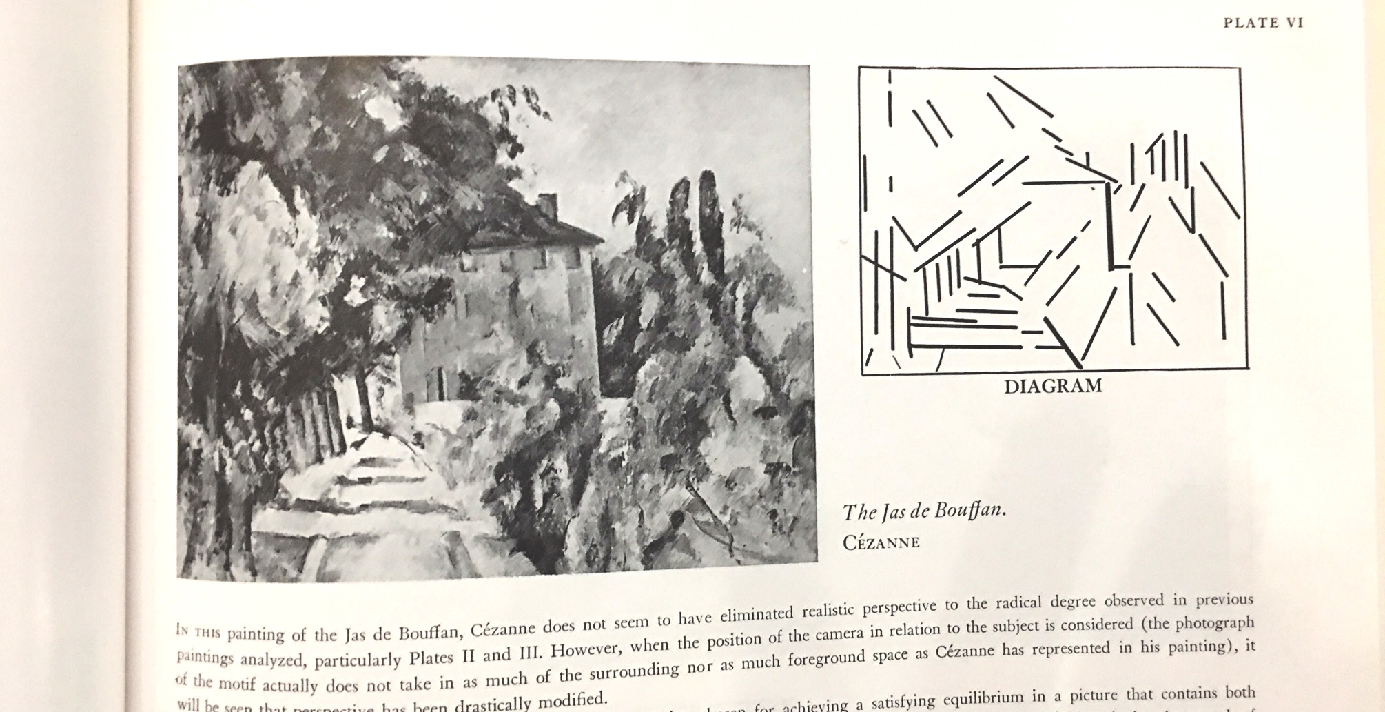 page from the Artist's copy of Cezanne's composition by Earl Loran