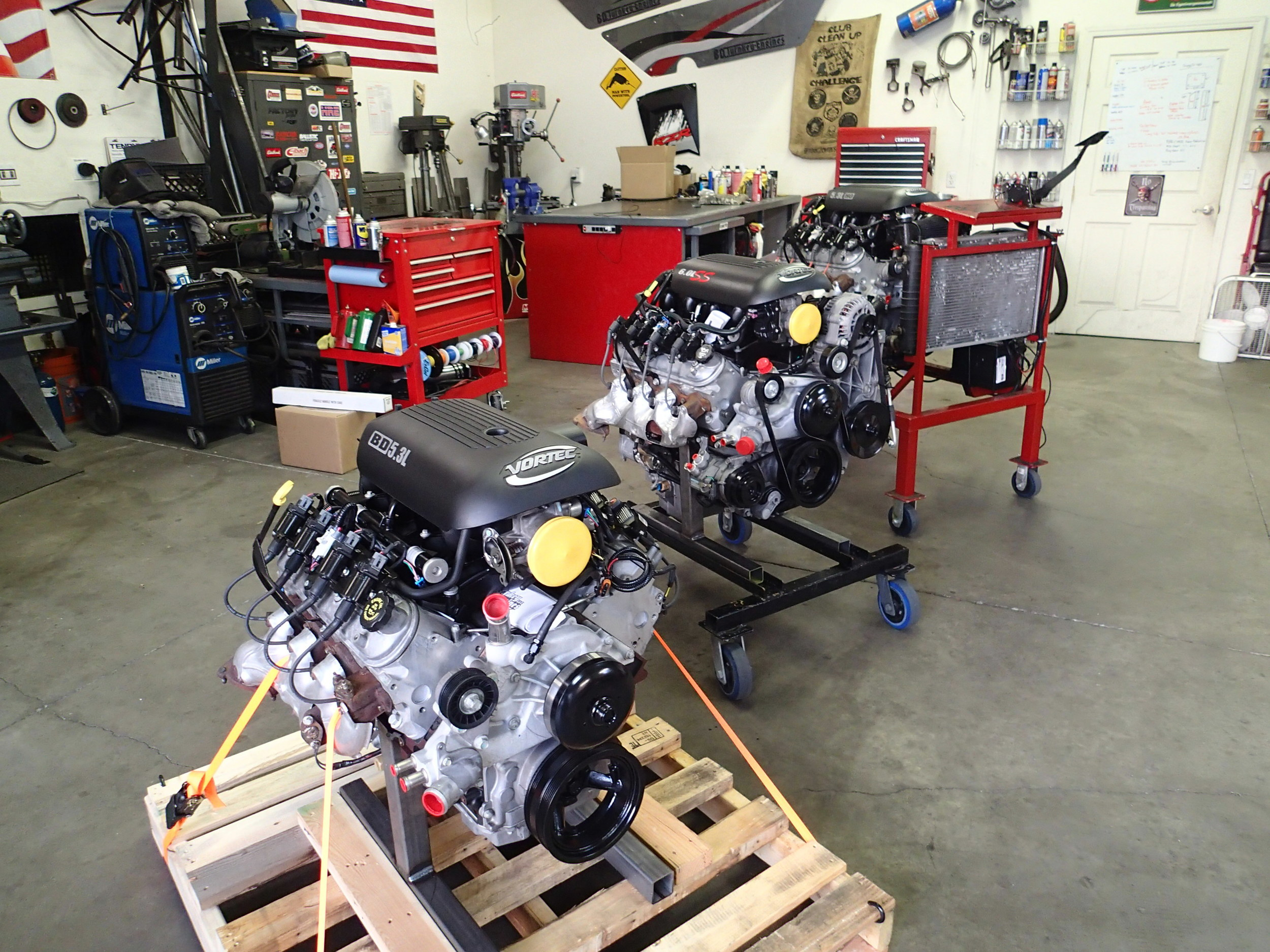 August 2014 - Engines going out every week.  5.3L RTS, 6.0L SS, and a 5.3L L33 Aluminum for an Air Boat in South Carolina.