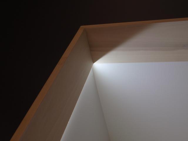 architectural detail of wood trim& recessed led lightingat verdigris  design & lighting design: bg design & consulting llc