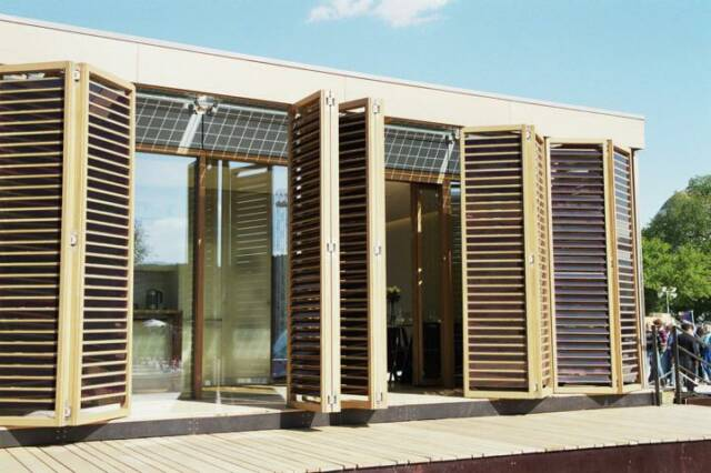 Exterior of Solar Decathlon winner, bg design and consulting