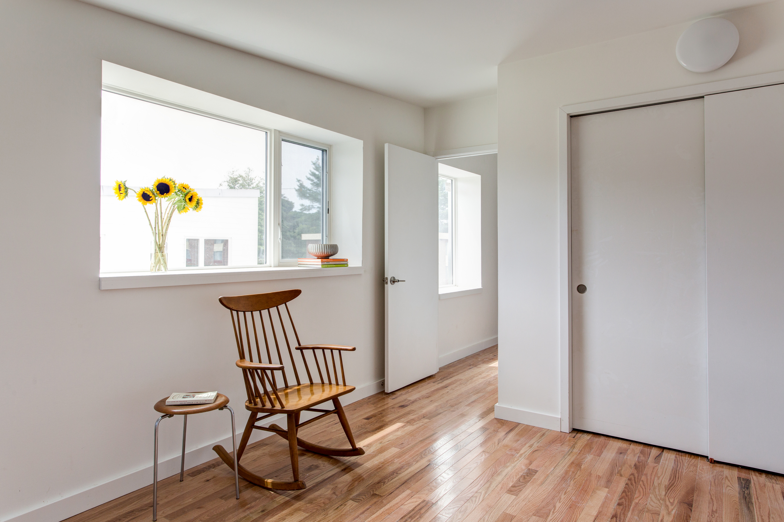 ecoMOD South - Passive House Unit - Bedroom Photo Credit: Andrea Hubbell, Charlottesville, VA