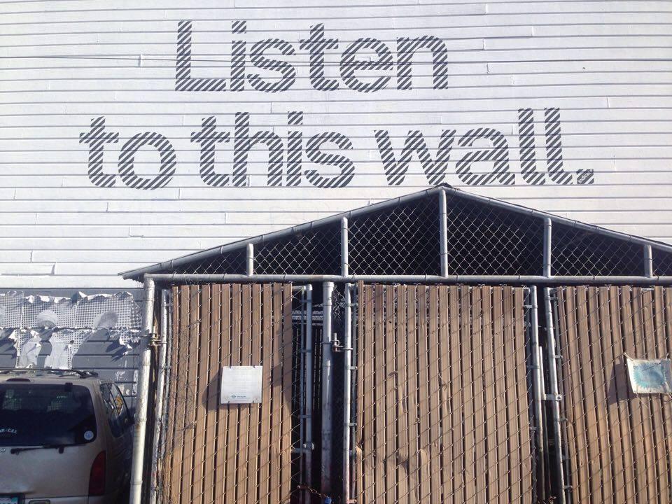'Listen to this Wall'public art initiative, San Francisco. Photo by Gascia Ouzounian 2016.