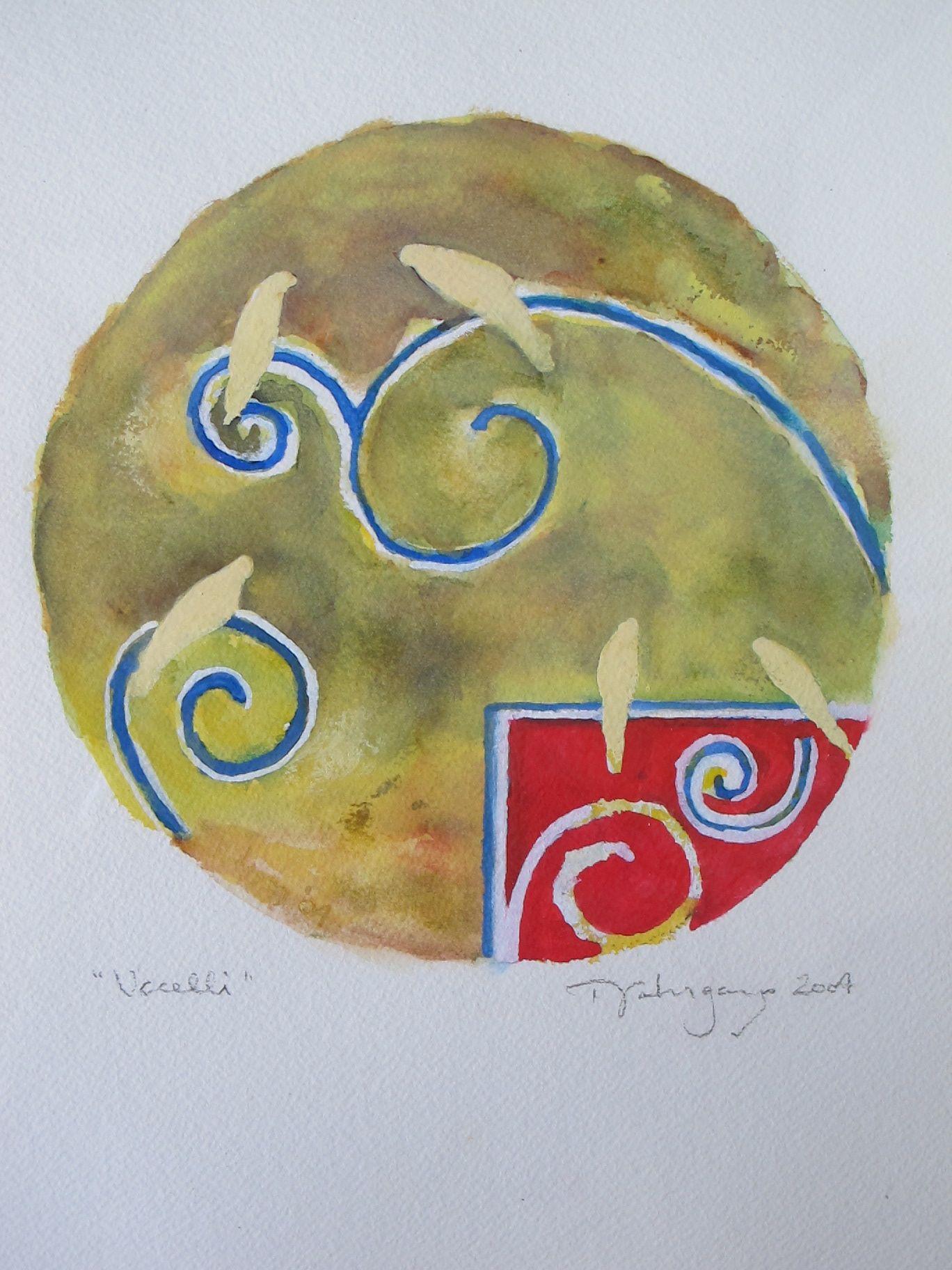 SCAUP  -  watercolor