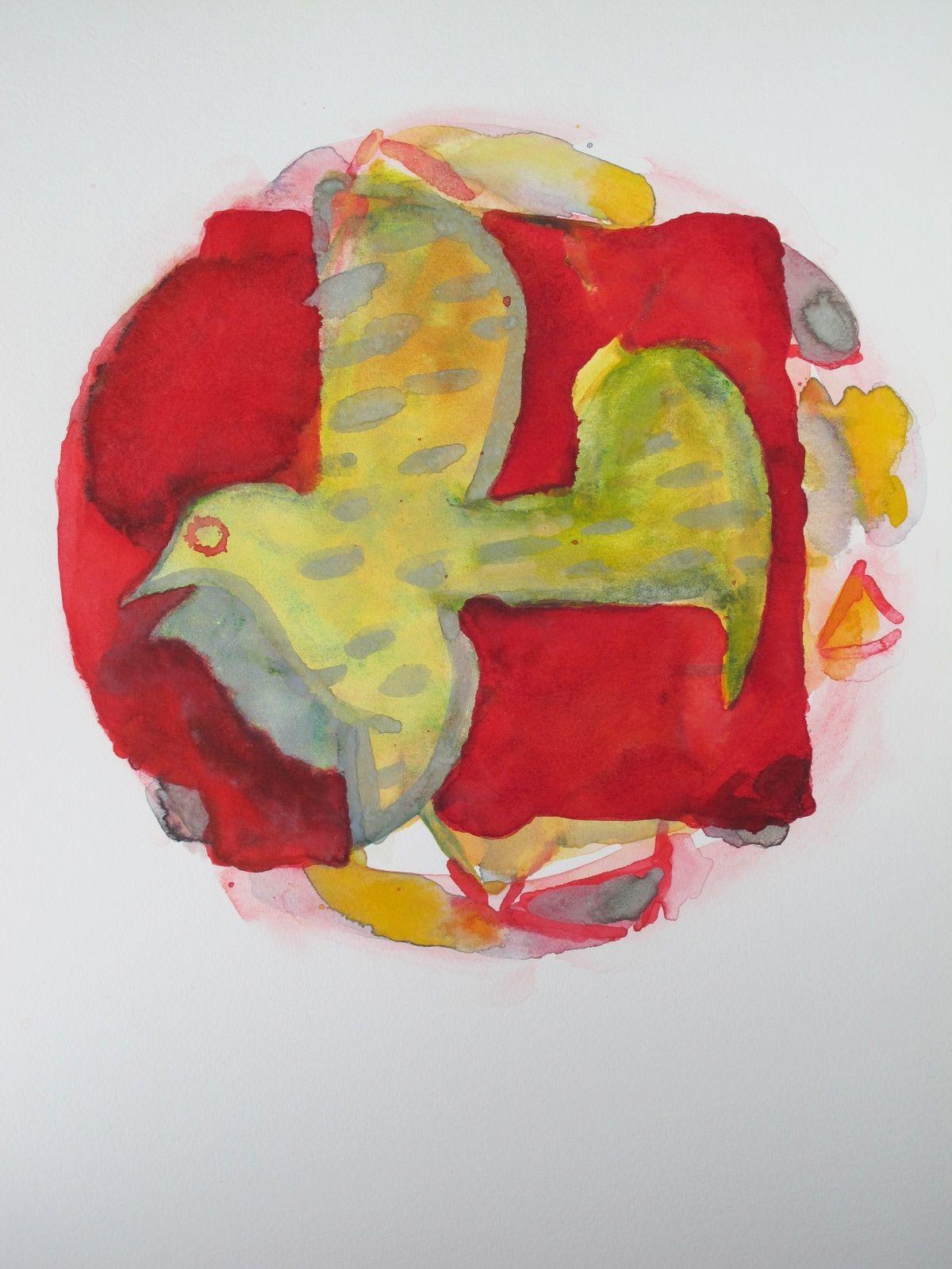 KESTREL  -  watercolor