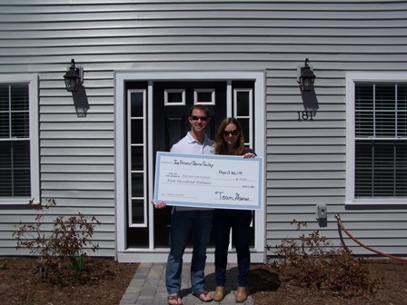 A donation to the SSYF from Team Ganer / Keller Williams Realty of $500.00 on behalf of Joe & Jenna for the purchase of their new Hanover Home March 30th 2015.