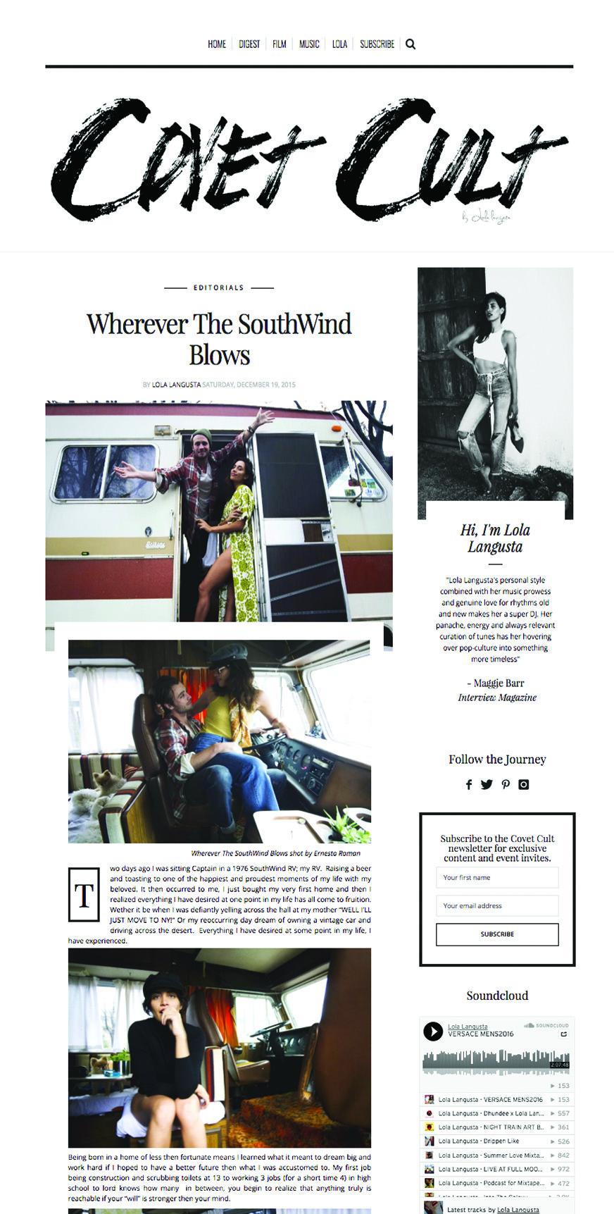 More photos http://covetcult.com/wherever-the-southwind-blows/