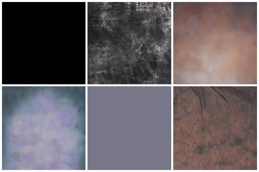 Various backdrops available.