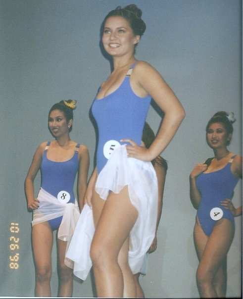 High school me, in the one and only pageant I ever participated in.