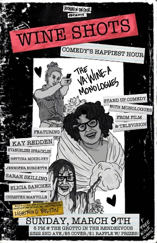 Wine Shots Comedy's Happiest Hour March 2014 Poster.jpg