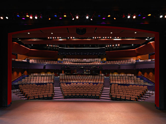 Lewis Family Playhouse Rancho Cucamonga, Ca. This 536 seat facility is similar in concept to what we envision South Burlington City Center for the Arts will have as a main stage.