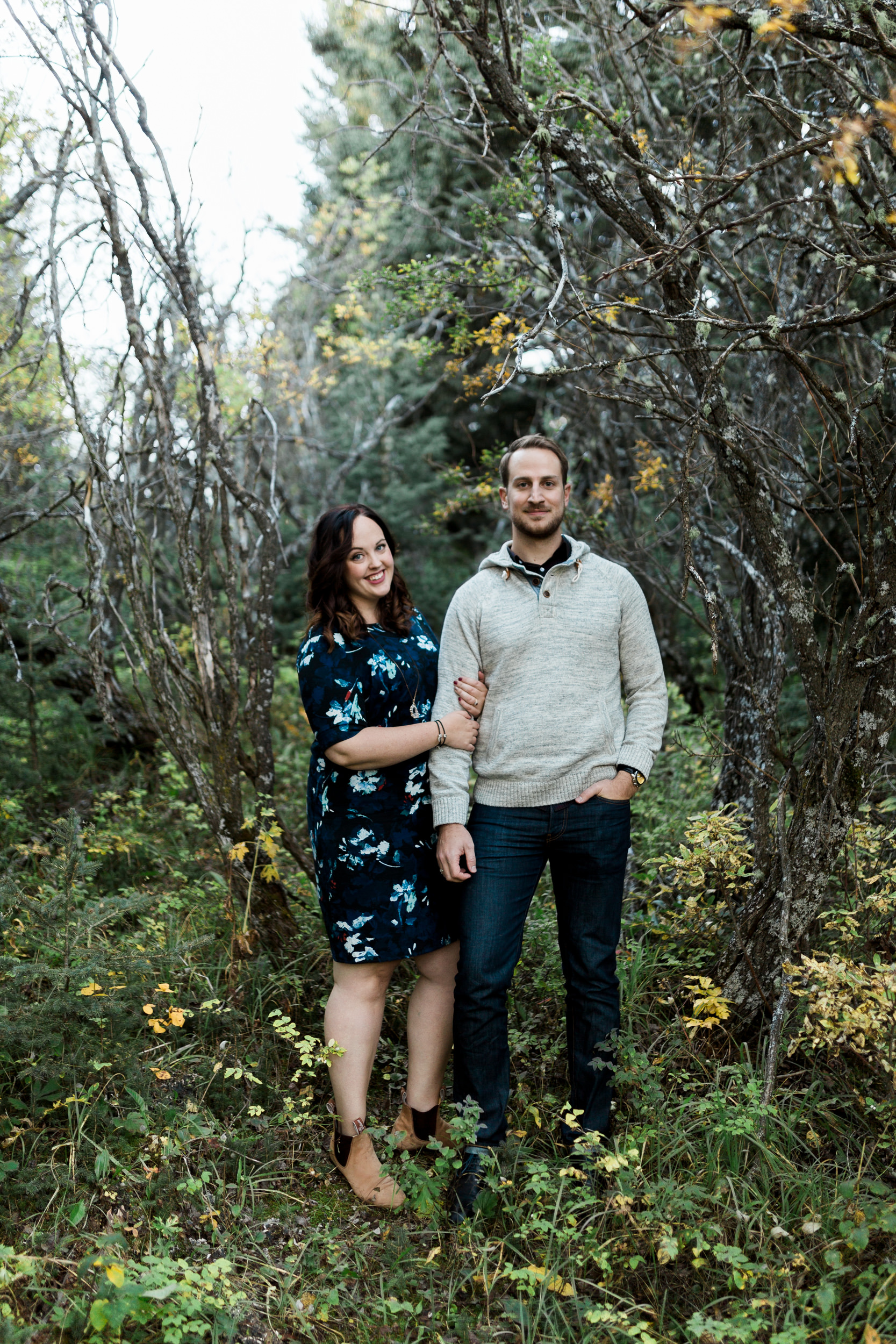 Timeless engagement in nature in the woods