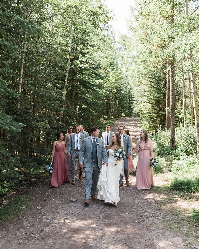 When your crew is all couples, no one can be the 3rd wheel at this wedding. It was such a great day in Canmore this summer that I think about often. Hailee and Quinn's wedding is easily on my list of favourite weddings this year.