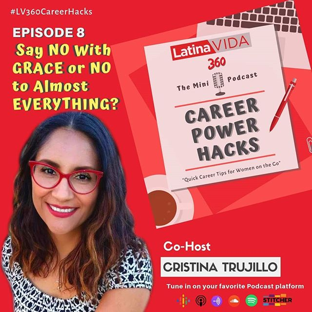 Did you miss last week's #LV360CareerHacks Newsletter on ⭐ Learning How to Say NO Gracefully ⭐ Catch up by 🎧listening to our Newsletter now in Audio form on the latest Episode of our NEW #CareerPowerHacks 🎙️Mini Podcast featuring Co-Host #CristinaTrujillo ❤ @getwavve 🎬Produced by @soyceciliamota ✍️Written by #MariaHernandez . . TO LISTEN TO THIS & ALL EPISODES CLICK LINK IN BIO ⬆️ OR FIND US ON @anchor.fm @spotify @googlepodcasts @breakeraudio @pocketcasts @radiopublicpbc . . . #makewavves #podcast #podcaster #podcasthost #podcastseries #podcastlife #brownpodcasters #podcastsofinstagram #careertips #careergoals #careerpowerhacks #careerwomen #anchorfm #anchorpodcast #careerplanning #careerhacks #careercoaching #sayno #saynowithgrace #mindset #cardibvibes #negativitynotallowed