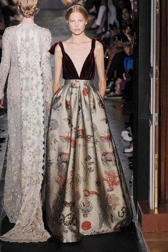 Valentino, by Maria Grazia Chiuri and Pierpaolo Piccioli, autumn  2013 couture, in Paris.