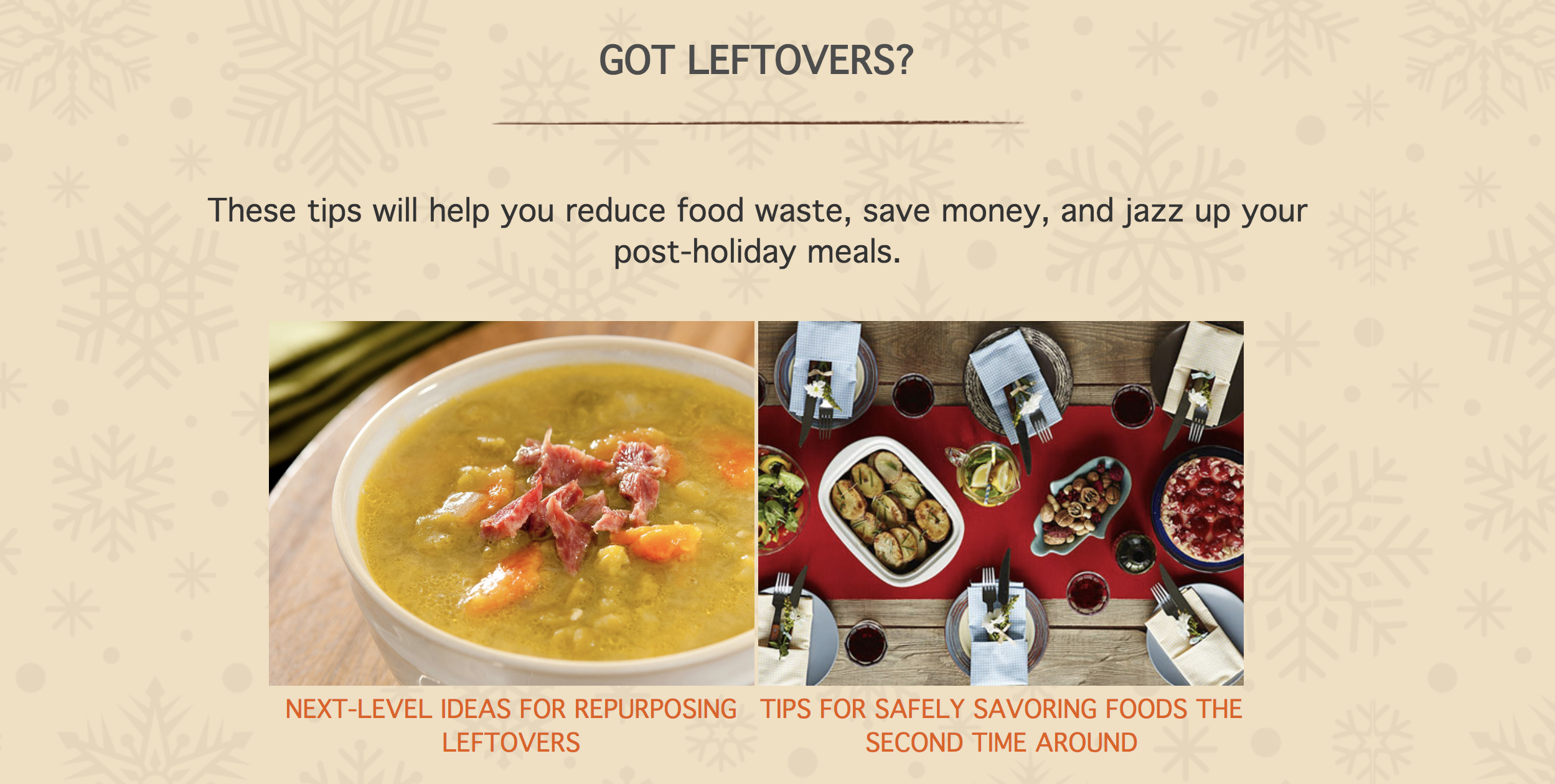 Tips for Leftovers