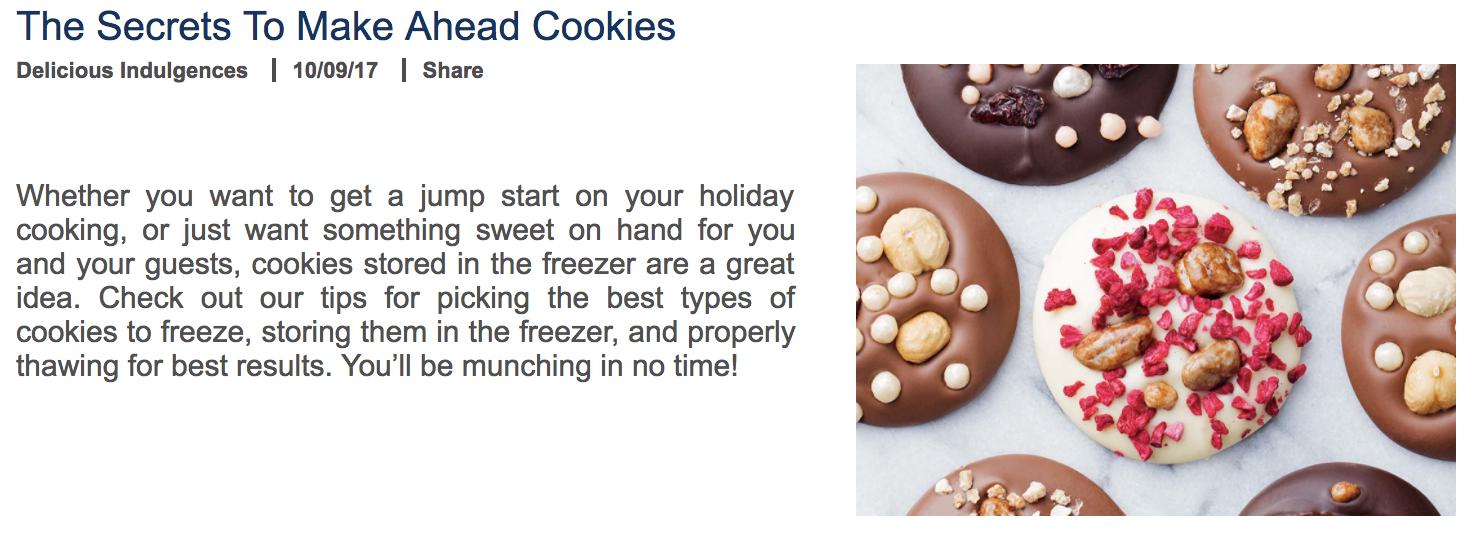 Make Ahead Cookies