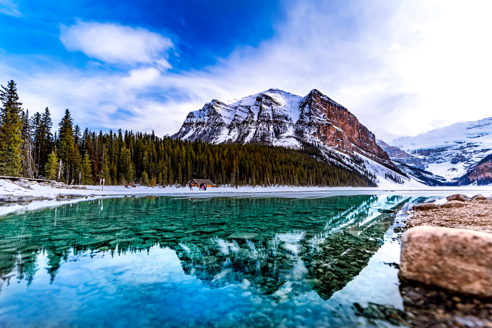 """ARTIST CREATED METAL WALL PRINT  FLOAT MOUNTED  LAKE MEADE BANFF NATIONAL PARK CANADA   SIZE 16"""" X 20"""" $175    SIZE 30"""" X 40"""" $465   See Full Rendering In the Album"""