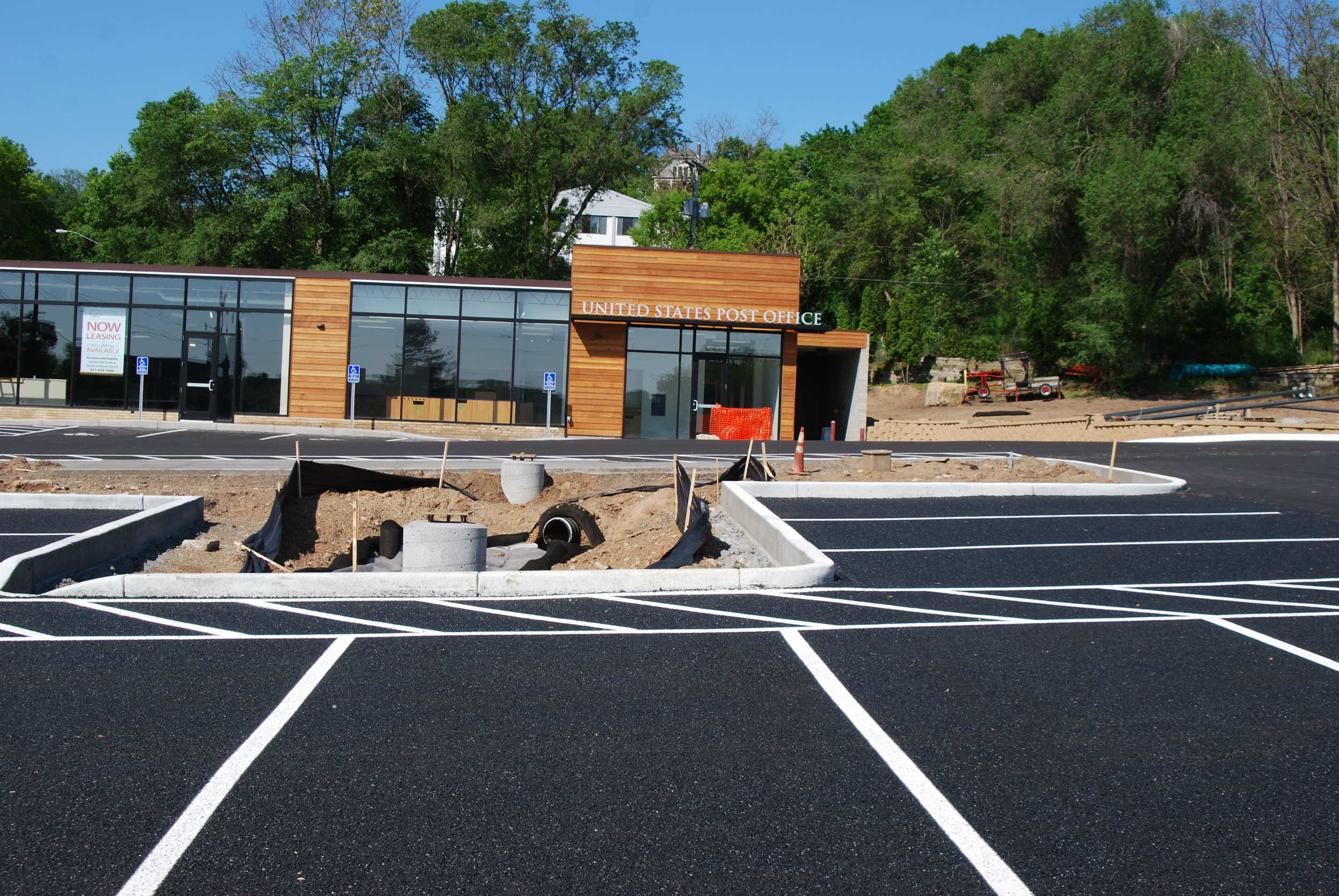 Porous Pavement at Trinity Lutheran in Stillwater, MN.
