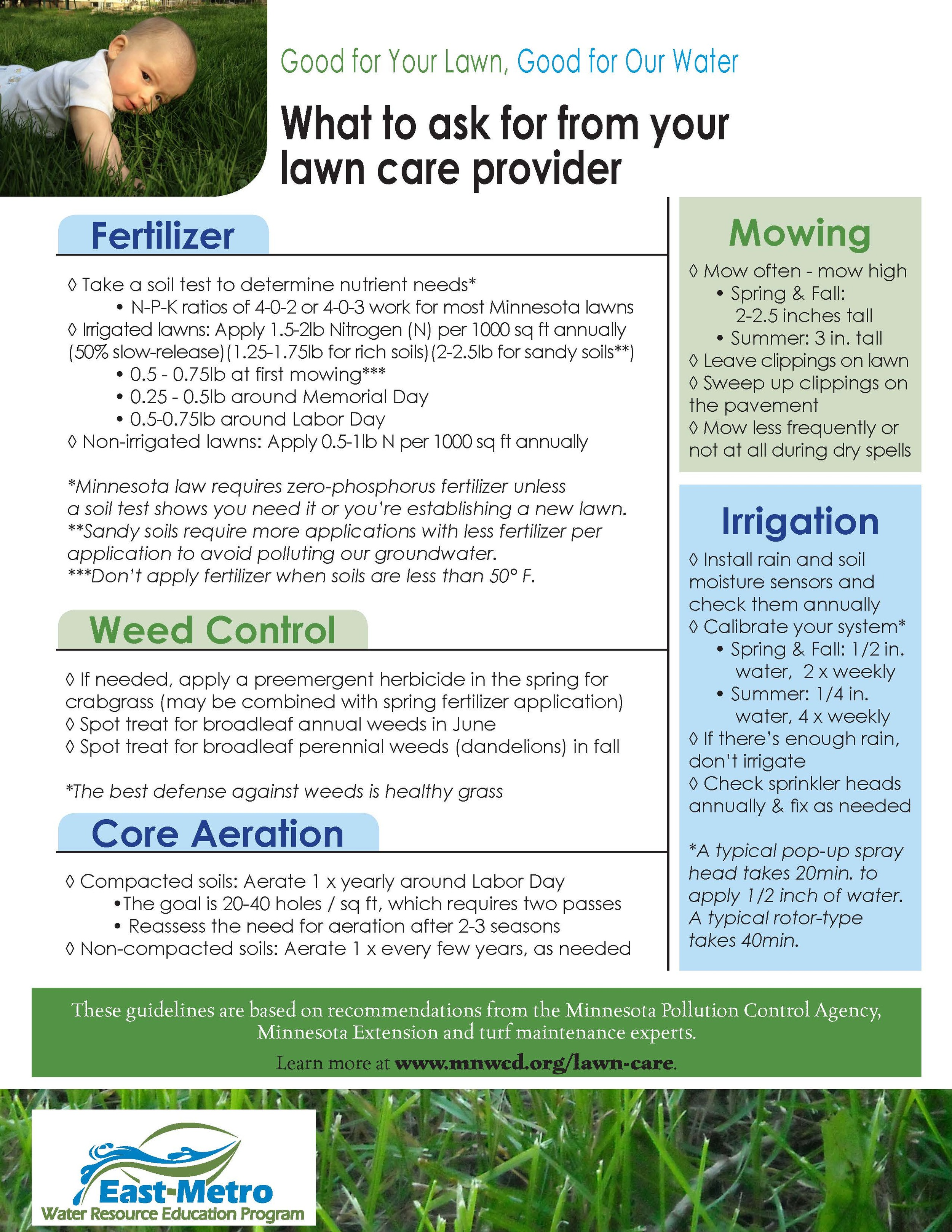 What to ask for from your lawn care provider