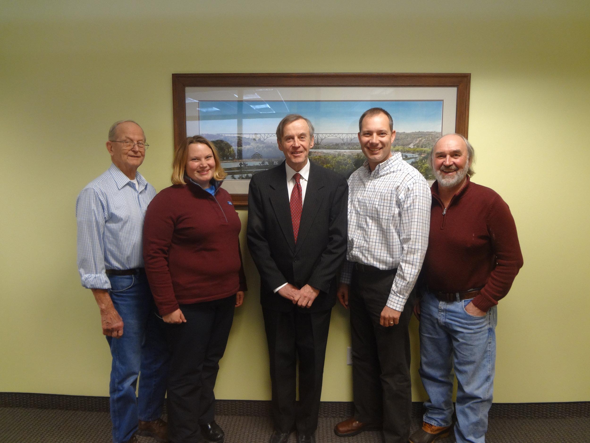 From Left to Right: Bob Rosenquist, Diane Blake, John Rheinberger, Jim Levitt, and Tim Behrends