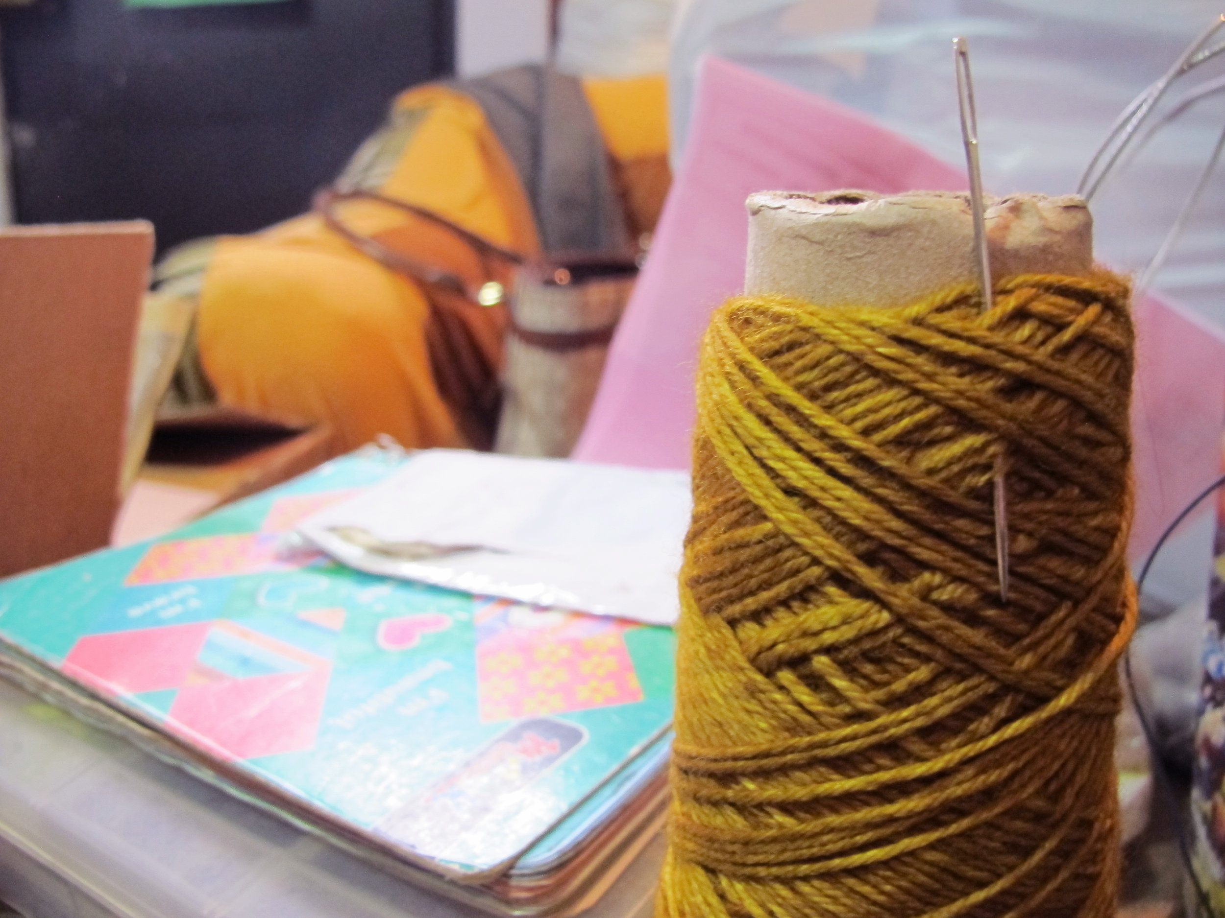 Making beautiful knitwear ain't easy. -