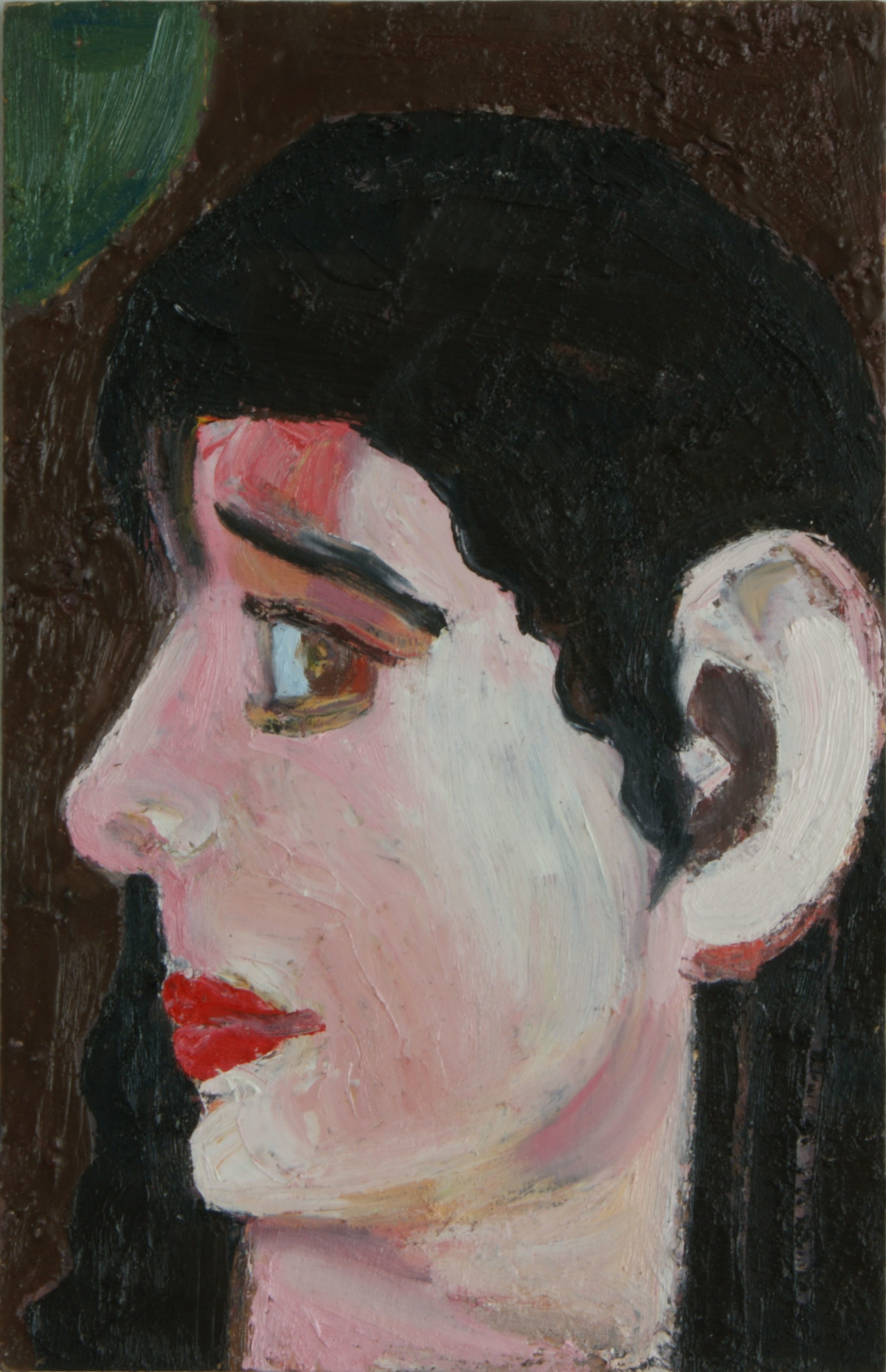 Look of Love, 42x27cm, oil and encaustic on MDF, 2011